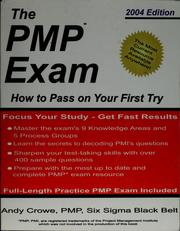 Cover of: The PMP exam | Andy Crowe