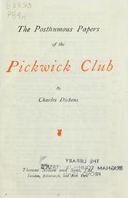 Cover of: The Posthumous Papers of the Pickwick Club | Nancy Holder