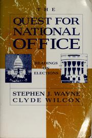 Cover of: The Quest for national office