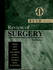 Cover of: Rush University review of surgery