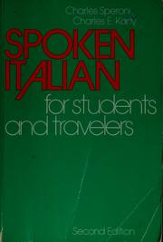 Cover of: Spoken Italian for students and travelers