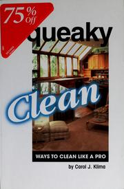 Cover of: Squeaky clean | Carol J. Klima