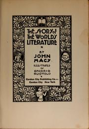 Cover of: The story of the world's literature