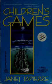 Cover of: Children's games