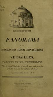 Cover of: Description of the panorama of the palace and gardens of Versailles | John Vanderlyn