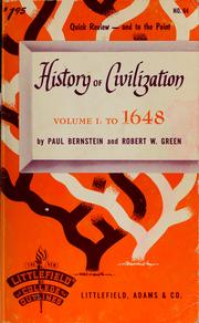 Cover of: History of civilization