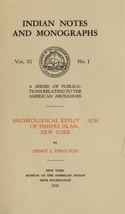 Cover of: Archeological exploration of Fishers island, New York
