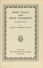 Cover of: Here today and gone tomorrow
