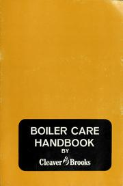 Cover of: Boiler care handbook | Cleaver-Brooks Company