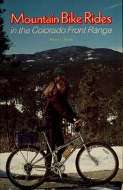 Cover of: Mountain bike rides in the Colorado Front Range | William L. Stoehr