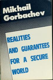 Cover of: Realities and guarantees for a secure world