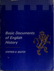 Cover of: Basic documents of English history