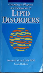 Cover of: Contemporary diagnosis and management of lipid disorders