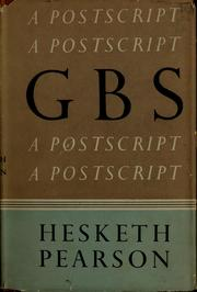 Cover of: G.B.S: a postscript