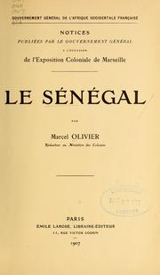 Cover of: Le Sénégal
