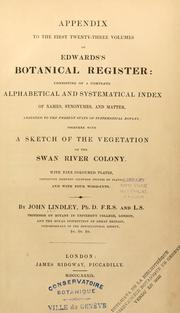 Cover of: Appendix to the first twenty-three volumes of Edwards's botanical register