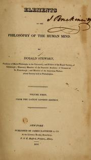 Cover of: Elements of the philosophy of the human mind ...