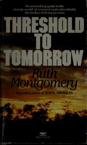 Cover of: Threshold to tomorrow
