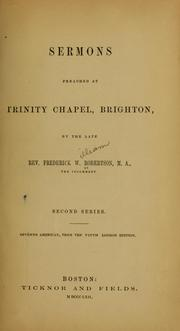 Cover of: Sermons preached at Trinity Chapel, Brighton
