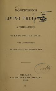Cover of: Robertson's living thoughts