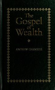 Cover of: The gospel of wealth