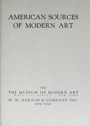 Cover of: American sources of modern art