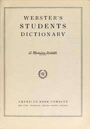 Cover of: Webster's students dictionary for upper school levels