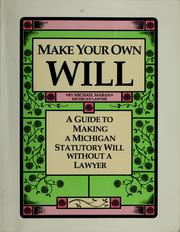 Cover of: Make your own will | Michael Maran