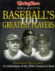 Cover of: The Sporting news selects baseball's 100 greatest players