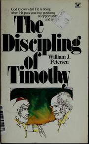Cover of: The discipling of Timothy