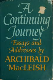 Cover of: A continuing journey