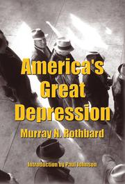 Cover of: America's great depression