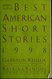 Cover of: The Best American short stories, 1998 | Garrison Keillor