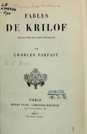 Cover of: Fables de Krilof