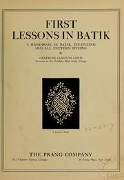 Cover of: First lessons in batik