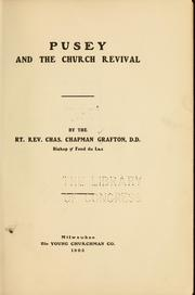 Cover of: Pusey and the church revival | Charles C. Grafton