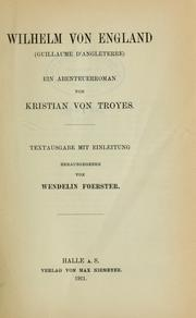 Cover of: Wilhelm von England (Guillaume d'Angleterre)
