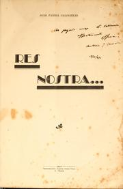 Cover of: Res nostra