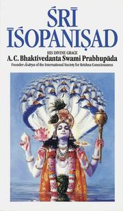 Cover of: Śrī Īśopaniṣad