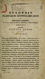 Cover of: Synopsis plantarum cryptogamicarum ab Eduardo Poeppig in Cuba insula et in America meridionali collectarum