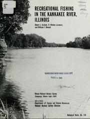 Cover of: Recreational fishing in the Kankakee River, Illinois | Graham, Robert J.