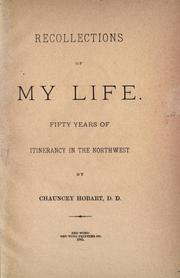 Cover of: Recollections of my life | Chauncey Hobart