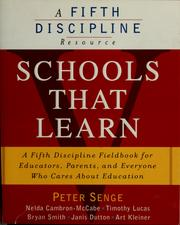 Cover of: Schools that learn | Peter M. Senge