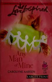Cover of: Any man of mine
