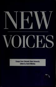 Cover of: New voices