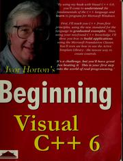 Cover of: Beginning Visual C++ 6 | Ivor Horton