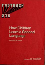 Cover of: How children learn a second language