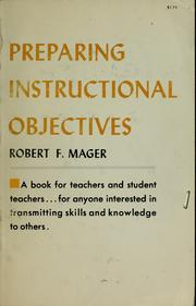 Cover of: Preparing objectives for programmed instruction