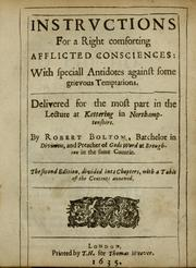 Cover of: Instructions for a right comforting afflicted consciences
