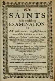 Cover of: The saints selfe-enriching examination